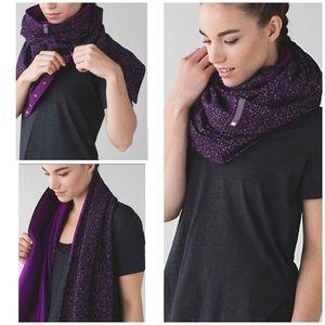 EUC Lululemon Vinyasa Fleece Purple Scarf Wrap